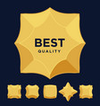 gold star medal award best quality flat design set vector image
