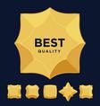 gold star medal award best quality flat design set vector image vector image