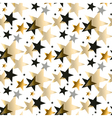 Gold star pattern vector image vector image