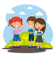 group of happy kids characters vector image vector image