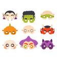 halloween carnival masks happy devil vector image