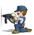 Handyman Drilling Blue vector image vector image