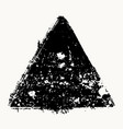 isolated grunge triangle vector image vector image