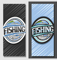 layouts for fishing vector image vector image