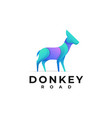 logo donkey gradient colorful style vector image