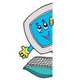 lurking cartoon computer vector image
