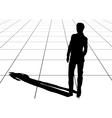 man shadow vector image vector image