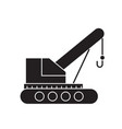 mobile crane black concept icon mobile vector image vector image