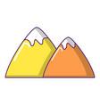 mountain icon cartoon style vector image vector image