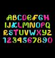 neon alphabet paper folding vector image