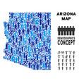 people arizona state map vector image