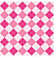 pink girlie argyle harlequin seamless pattern vector image vector image
