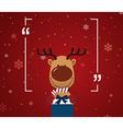 Reindeer holding giftbox vector image vector image