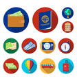 rest and travel flat icons in set collection for vector image vector image