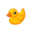 rubber duck on a white background vector image