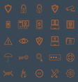 Security line color icons on grey background vector image