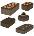 set of brownie vector image vector image