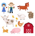 set of farm animals set of farm animals vector image vector image