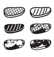 Set of grilled meat icon vector image vector image