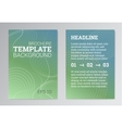Set of Poster Brochure Design Templates in green vector image
