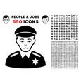 sheriff icon with bonus vector image vector image