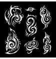 Silver tattoo vector image