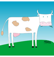 simple cow vector image vector image