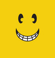 smile face expression design template vector image vector image