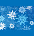 snow pattern winter holiday snowflakes background vector image vector image