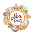 spa wellness beauty hand drawn background vector image vector image