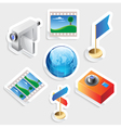 Sticker icon set for travel vector image vector image