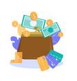 successful money storage metaphor flat banner vector image vector image