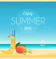 summer poster of cocktail and vector image vector image