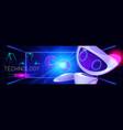 technology cartoon web banner artificial bot vector image