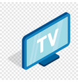 tv screen isometric icon vector image