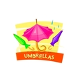 Umbrella concept design vector image