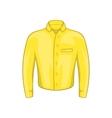 Yellow man shirt icon cartoon style vector image vector image