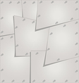 Stainless steel sheets are bonded to each other ro vector image