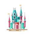 Magical castle Fabulous palace vector image