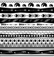 Tribal designs seamless pattern vector image