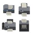 office electronics flat icons set vector image