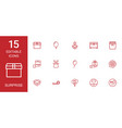 15 surprise icons vector image vector image