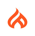 abstract fire concept logo icon design vector image vector image