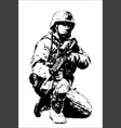 an american soldier with weapons vector image
