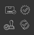 approve chalk icons set vector image vector image