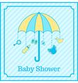 baby boy shower invitation vector image vector image