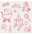 baby doodles vector image vector image