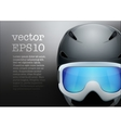 Background of Classic Ski helmet and snowboard vector image vector image