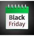 Black friday sale calendar on grey background vector image vector image