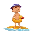 Boy on the beach vector image